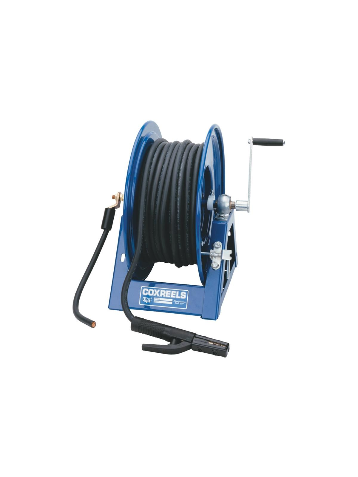 Hand Crank Welding Cable Reels | Fresno Rack & Shelving Co.